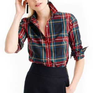 J. Crew Perfect Shirt Stewart Plaid Button Down